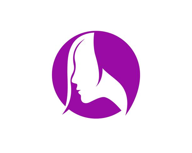 hair woman and face logo and symbols ,, vector