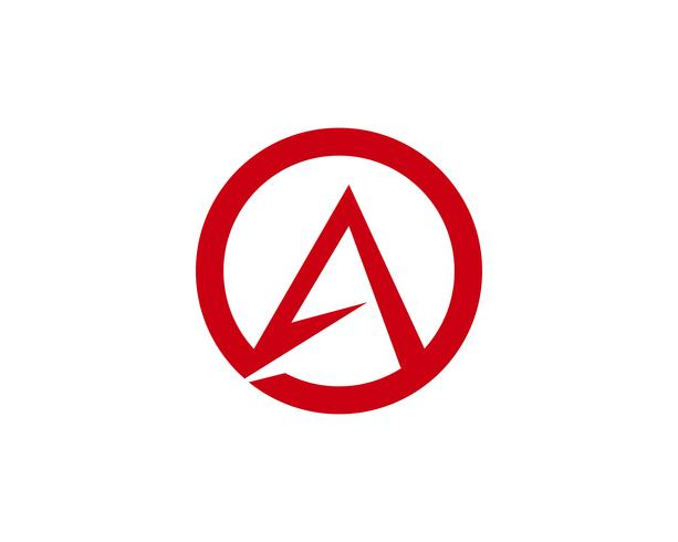 Un icono del vector de la plantilla del logotipo de la letra,