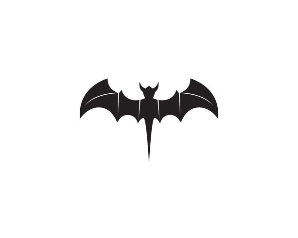 Bat svart logotyp mall vit bakgrund ikoner app