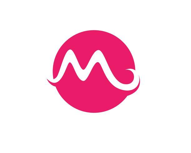 M Letter  Logo Template vector illustration design,
