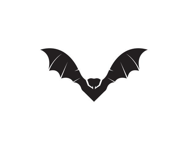 Bat svart logotyp mall vit bakgrund ikoner app vektor
