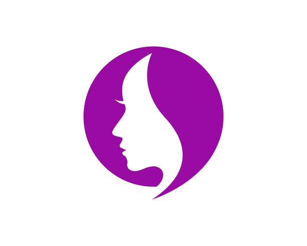 Haar Frau und Gesicht Logo und Symbole ,,