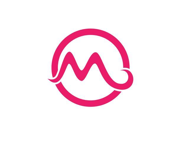 M lettre Logo Template vector illustration design,