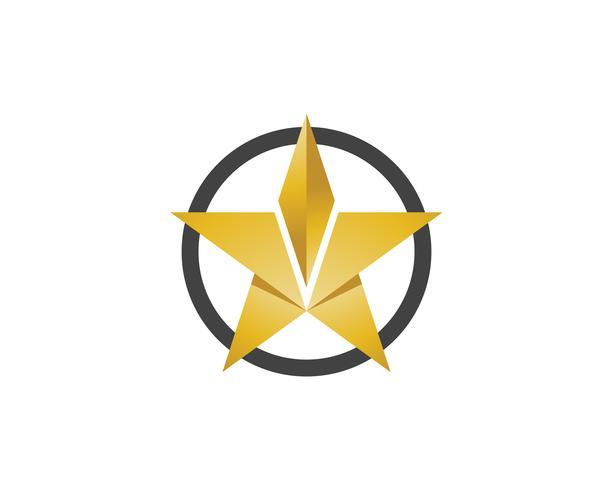 Ontwerp van de het pictogramillustratie van het sterembleem het vectorontwerp