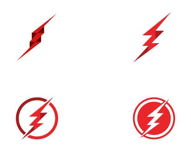 modello di logo flash fulmine