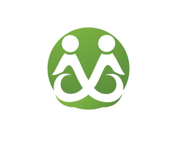 Adoção e assistência comunitária Logo template vector icon,
