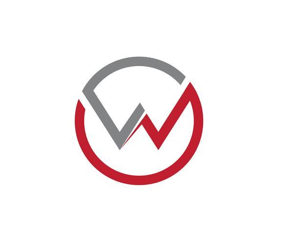 Icona di W Logo Logo Business Template vettoriale