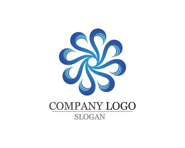 Waves Beach logo et symboles modèle app icônes vecteur