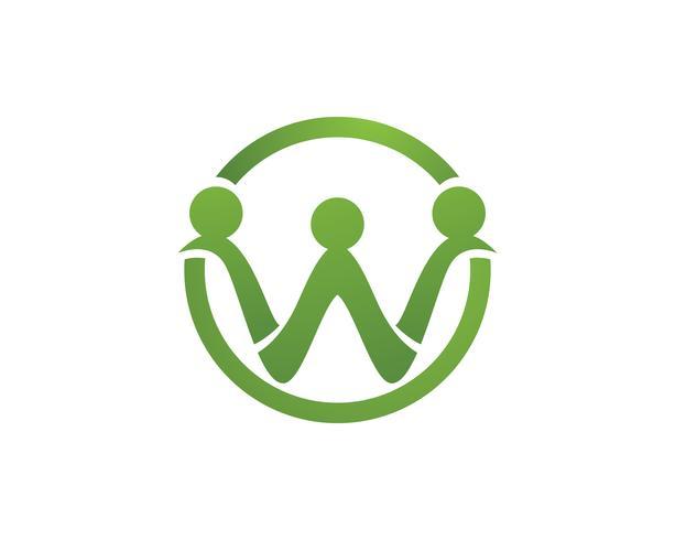 Adoption et soins communautaires Icône de modèle de logo Logo vector,