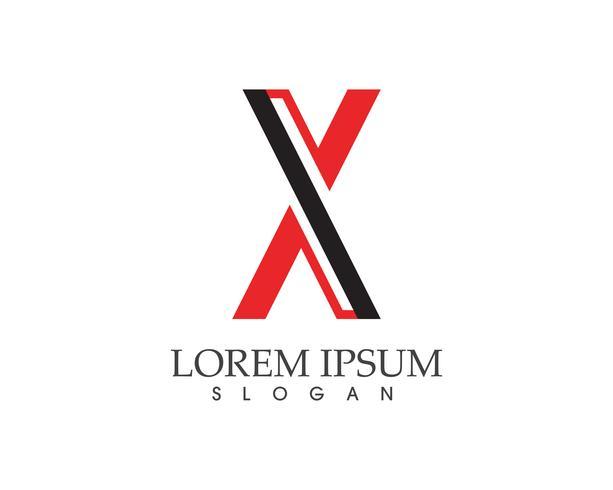 X carta Logo plantilla vector icono de diseño