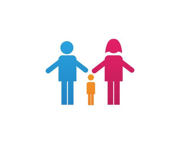Adoptionsbaby- und -gemeinschaftspflege Logo template vector icon