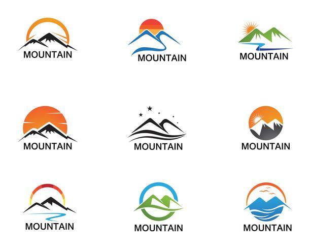 Minimalist Landscape Mountain logo design inspirations vector