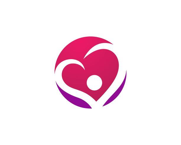 Amore Logo e simboli Icone del modello di vettore