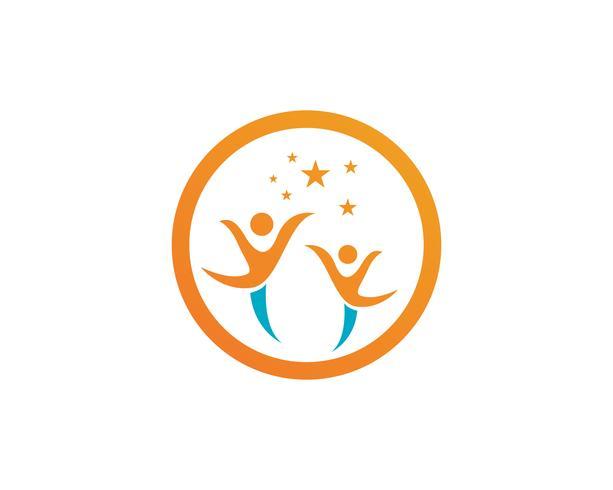 Adoption baby and community care Ícone de vetor de modelo de logotipo