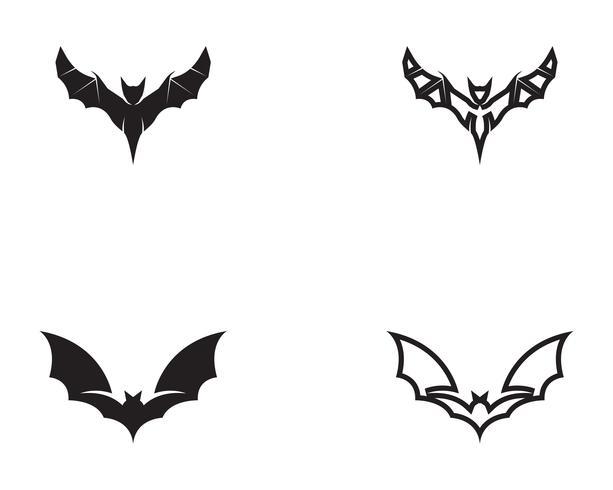 Bat black  logo template white background icons app