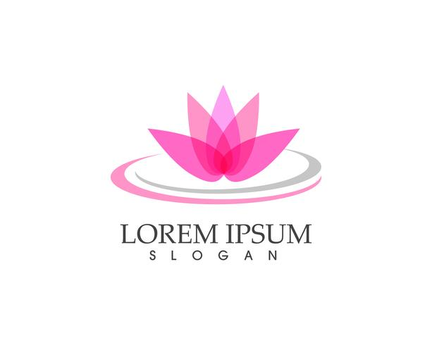 Beauty Vector Lotus Blumen Design Logo Vorlage Symbol