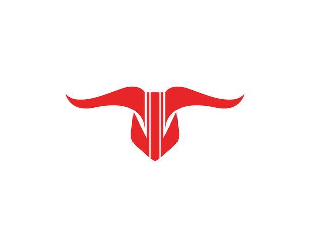 Bull rosso logo e simboli modello icone app