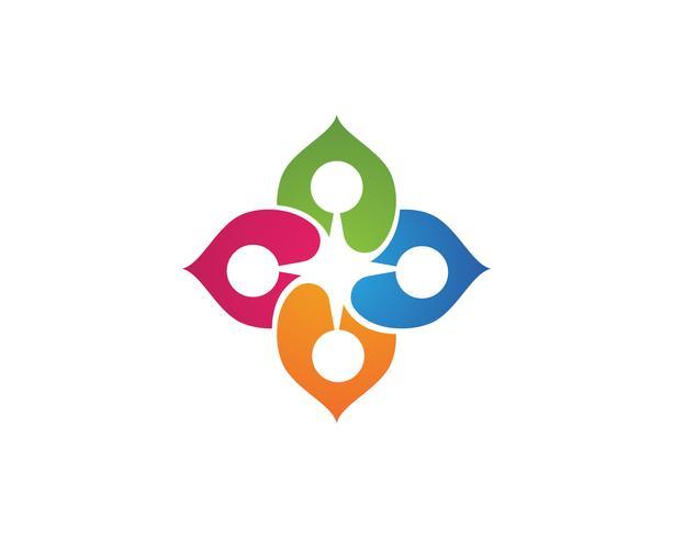 people community leaf green nature health logo and symbols