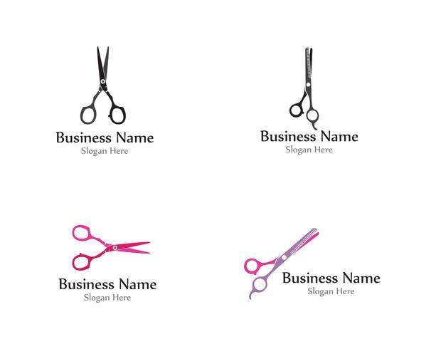 vecteurs de logo de coiffeur