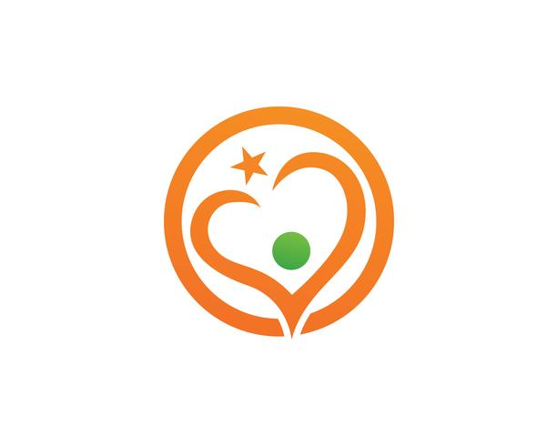 Hou van logo en symbolen Vector sjabloon pictogrammen