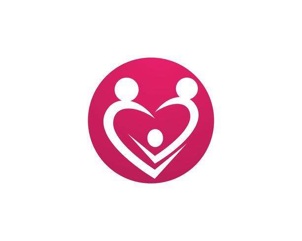 Adoptie baby- en gemeenschapszorg Logo sjabloon vector pictogram