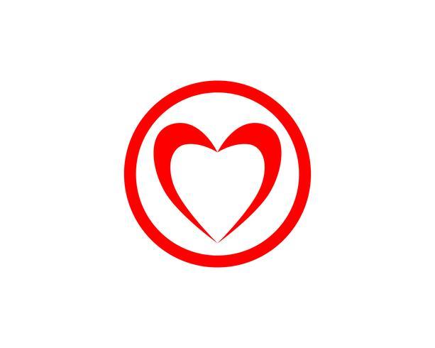 Liebes-Logo und Symbole Vektor-Schablonenikonen