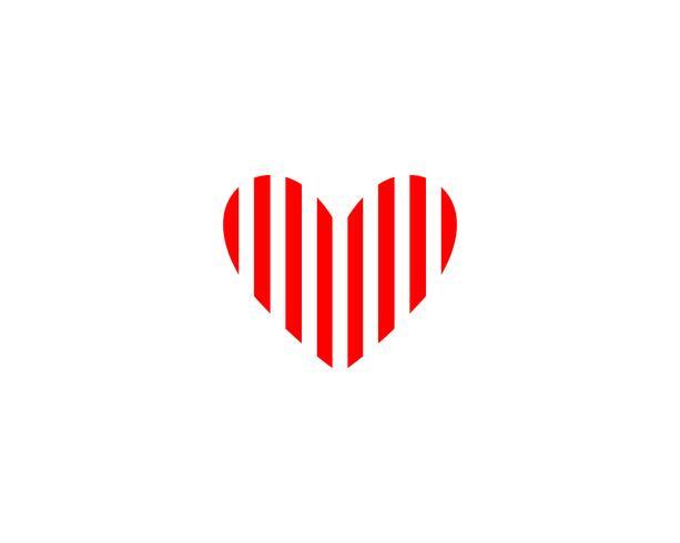 Liebes-Logo und Symbole Vektor-Schablonenikonen-APP-Vektor