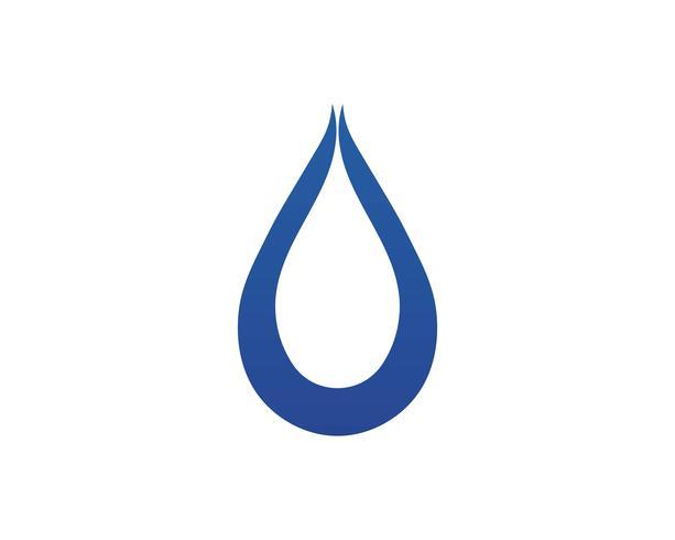 Wassertropfen Logo Template Vektor