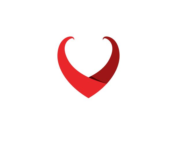 Love Logo and symbols Vector Template pictogrammen app ..