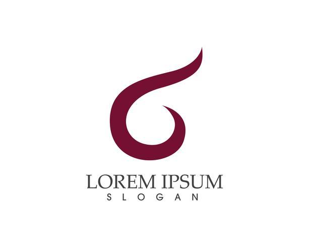 Icone di app modello astratto logo design aziendale