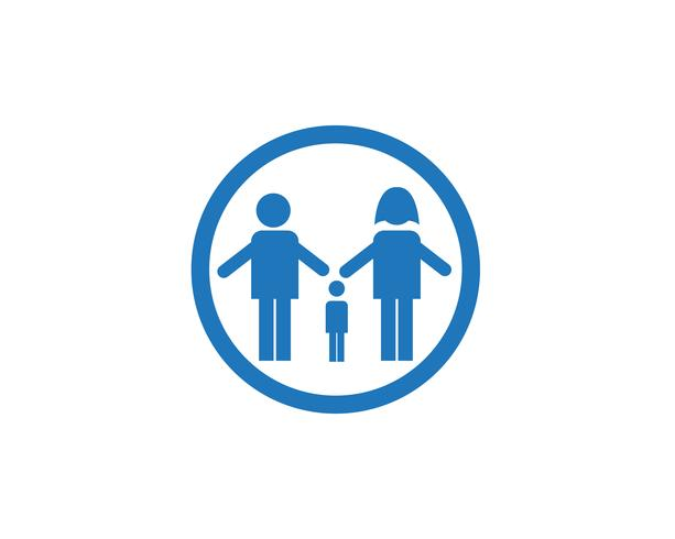 Antagande baby och gemenskapsvård Logo mall vektorikon
