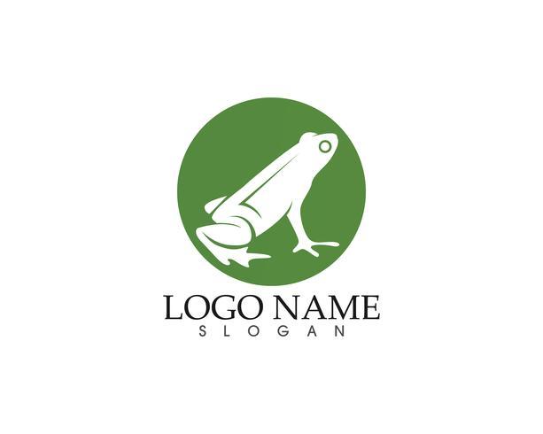 groda gröna symboler logotyp och mallikoner app