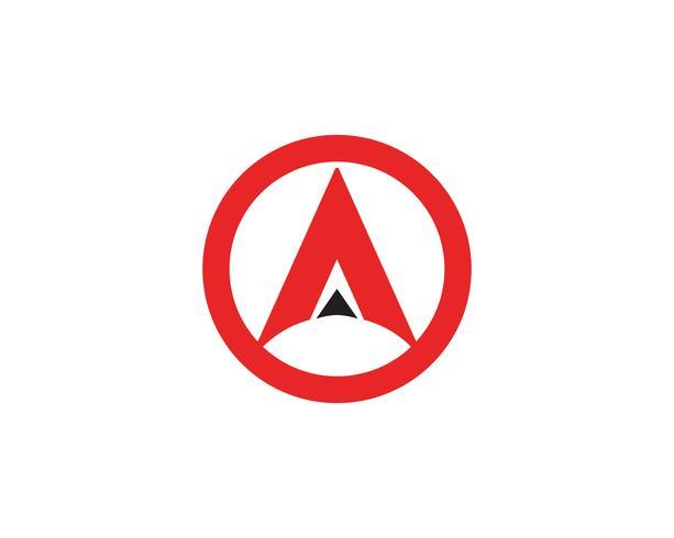 Een bedrijfsbriefembleem en symboolmalplaatje Vectorpictogram