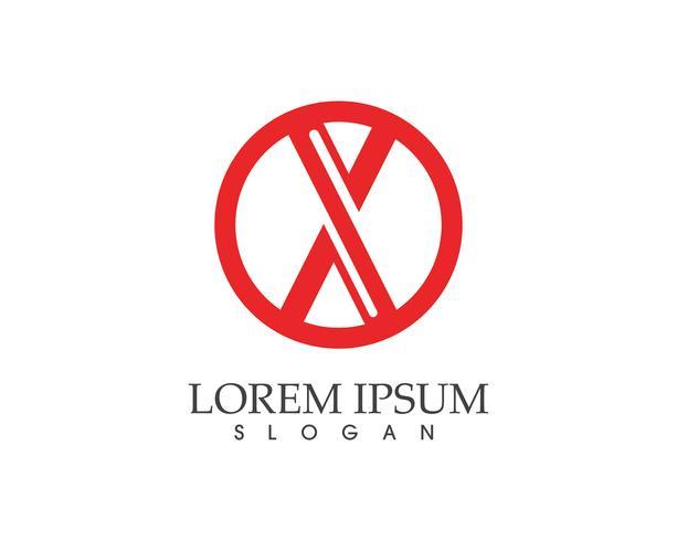 X Letter Logo Mall vektor ikon design