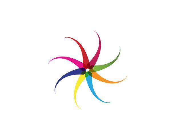 vortex circle logo and symbols template icons app..