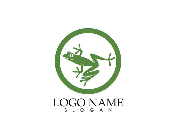 logo rana simboli verdi e icone modello app