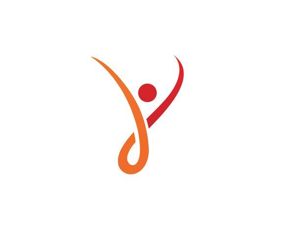 Gezondheid mensen Menselijk karakter logo teken illustratie vector