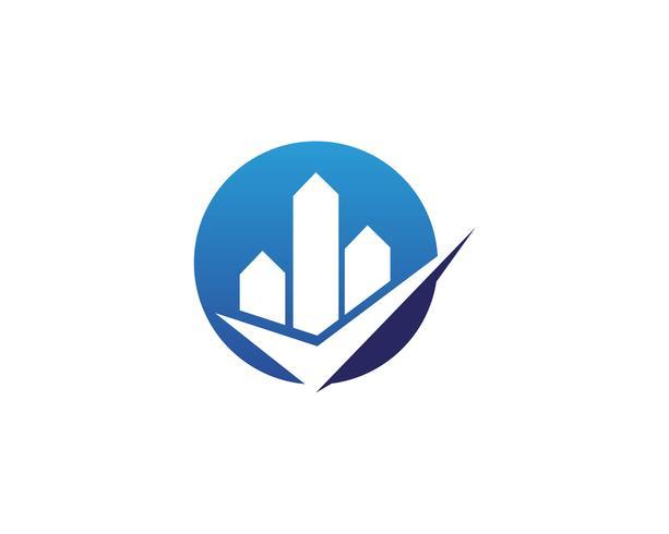 Eigentum und Bau Logo Design