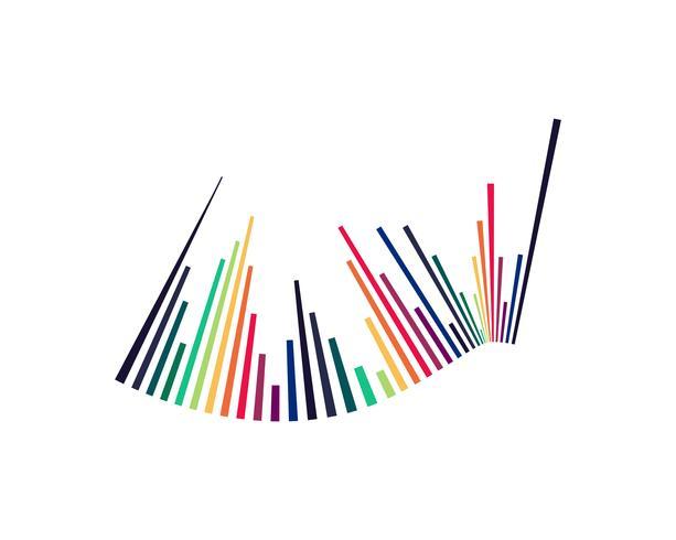 Ondas de sonido ilustración vectorial vector