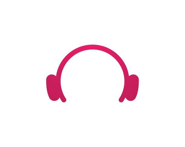 Modello di logo e icone di simboli musicali