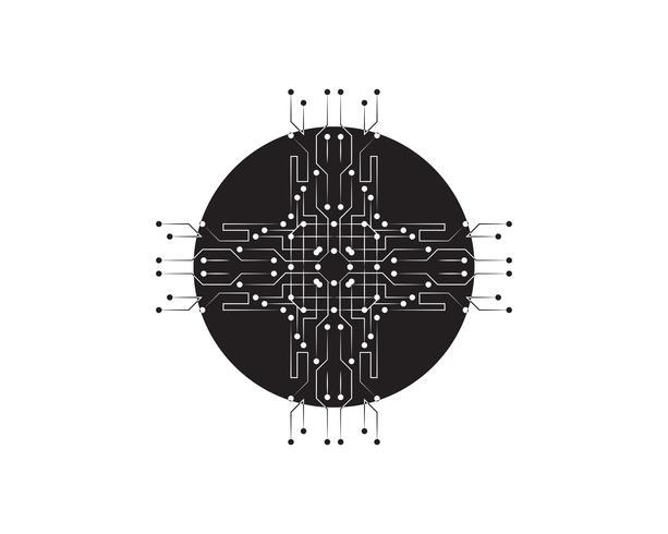 Abstraktes zukünftiges digitales Wissenschaftstechnologiekonzept.