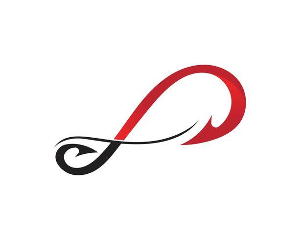 Infinity haaksymbool en logo vector
