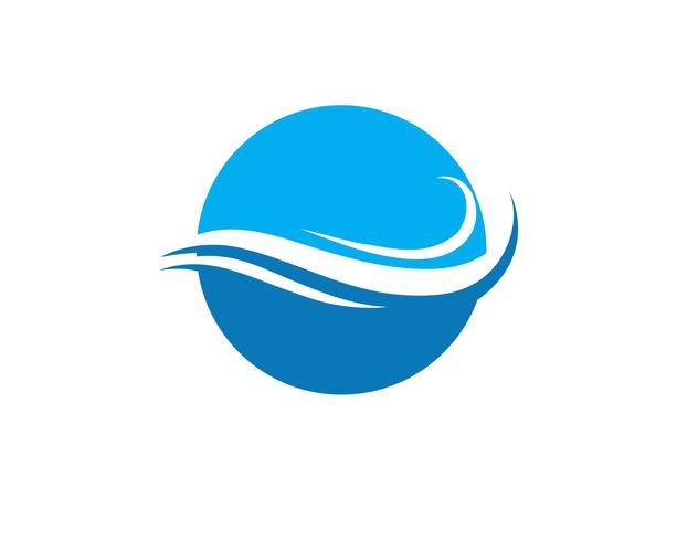 Símbolos de la ola de agua y los iconos de plantillas de logotipo icono vector