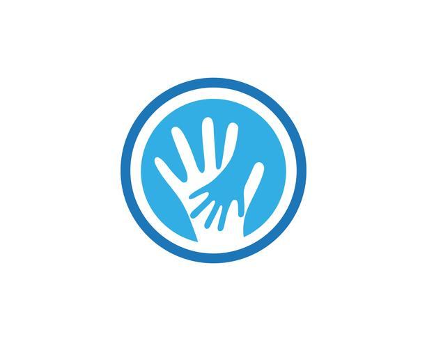 Hand care logo and symbols template icon