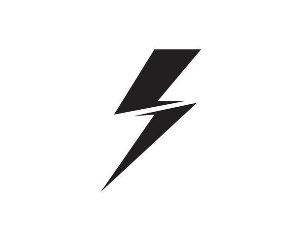 Flash-Blitz-Schablonenvektorikonen-Illustrationsvektor
