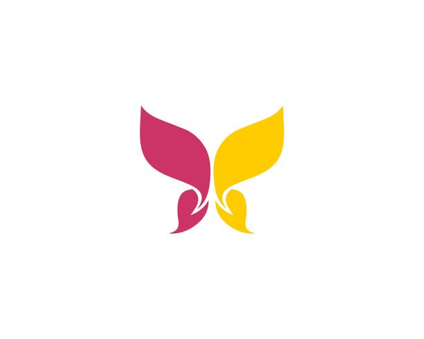 Butterfly conceptual simple colorful  Logo