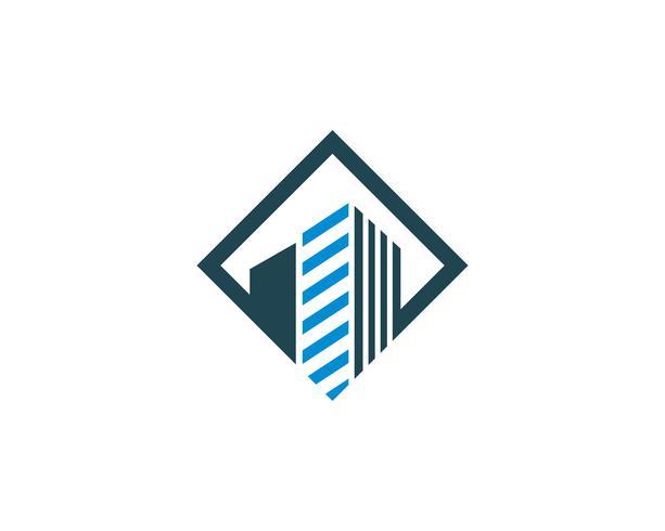 Design de logotipo de propriedade e construção