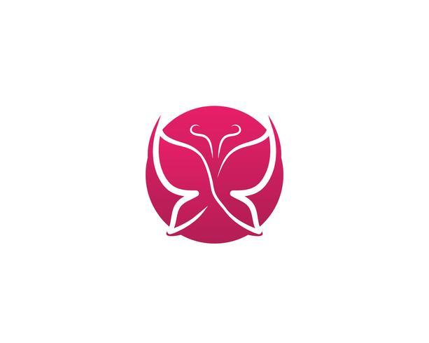 Logotipo colorido simples conceitual de borboleta
