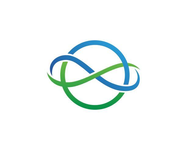 Infinito logo y símbolo plantilla iconos vectoriales aplicación vector