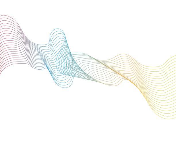 vague ligne graphique illustration vectorielle